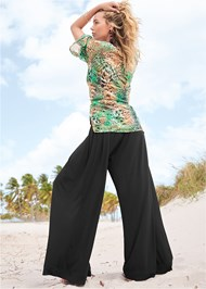 Back View Wide Leg Cover-Up Pants
