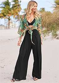 Full front view Wide Leg Cover-Up Pants