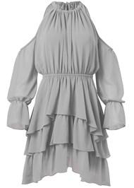 Alternate View Cold Shoulder Tiered Dress