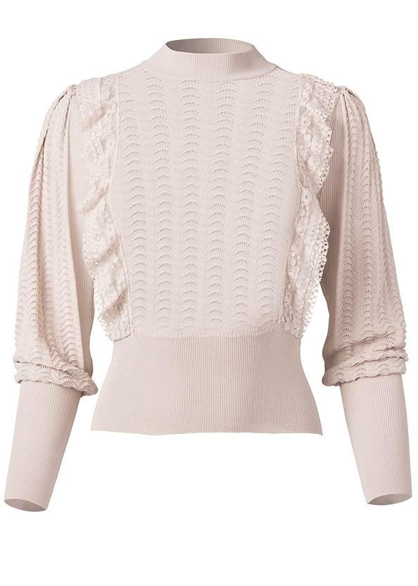 Alternate View Pointelle Detail Sweater