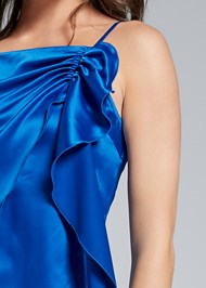 Detail front view Ruched Satin Top