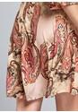 Detail back view Paisley Print Mini Dress
