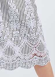 Detail front view Embroidered Linen Dress