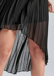 Detail front view Pearl Strap Pleated Dress