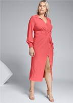 plus size maxi shirt dress