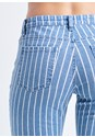 Alternate View Pinstripe Skinny Jeans
