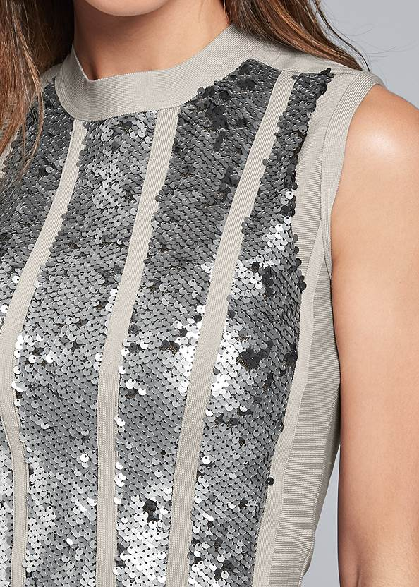 Alternate View Bandage Sequin Sweater