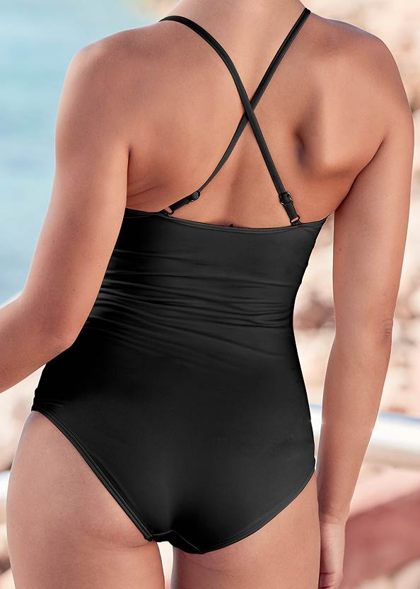 Detail back view Slimming Tie One-Piece