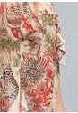 Detail back view Animal Print Skirt
