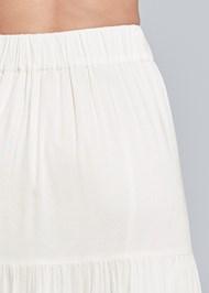 Back View Gold Embellished Maxi Skirt