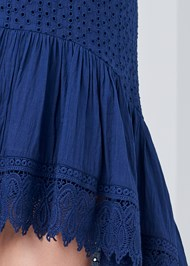 Alternate View High Low Eyelet Skirt