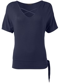 Ghost with background  view Side Knot Casual Top