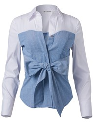 Ghost with background  view Twofer Blouse