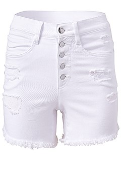 plus size ripped jean shorts