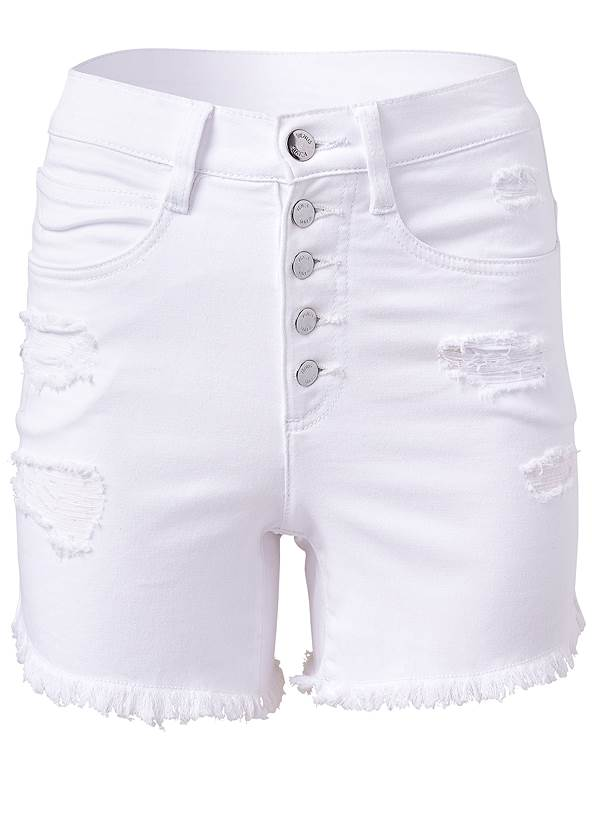 Ghost with background  view Ripped Jean Shorts