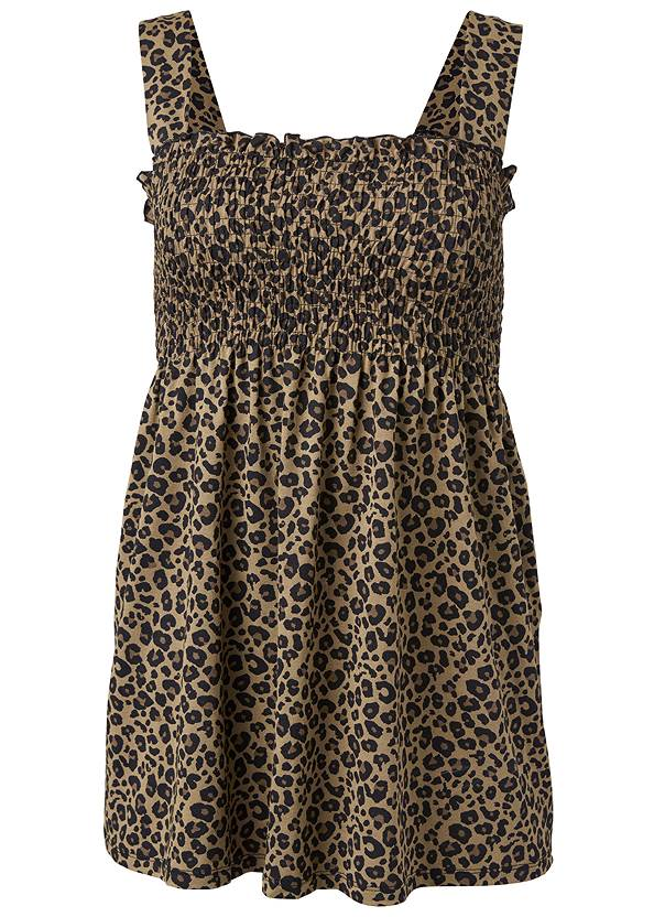 Alternate View Smocked Leopard Tunic