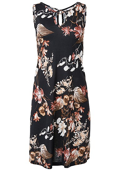 Plus Size Floral Printed Casual Dress