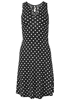 plus size polka dot casual dress