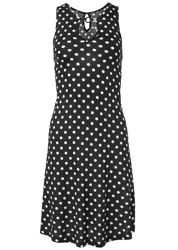 Alternate View Polka Dot Casual Dress