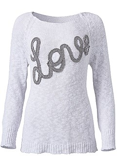 plus size love sweater