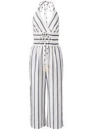 Alternate View Halter Stripe Jumpsuit