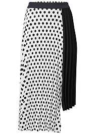 Ghost with background  view Polka Dot Pleated Skirt