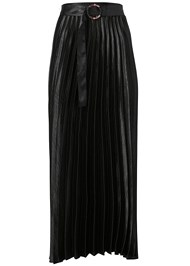 Ghost with background  view Belted Pleated Satin Skirt