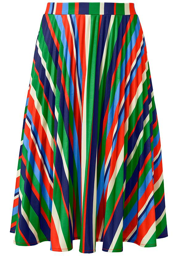 Ghost with background  view Multi Stripe Pleated Skirt