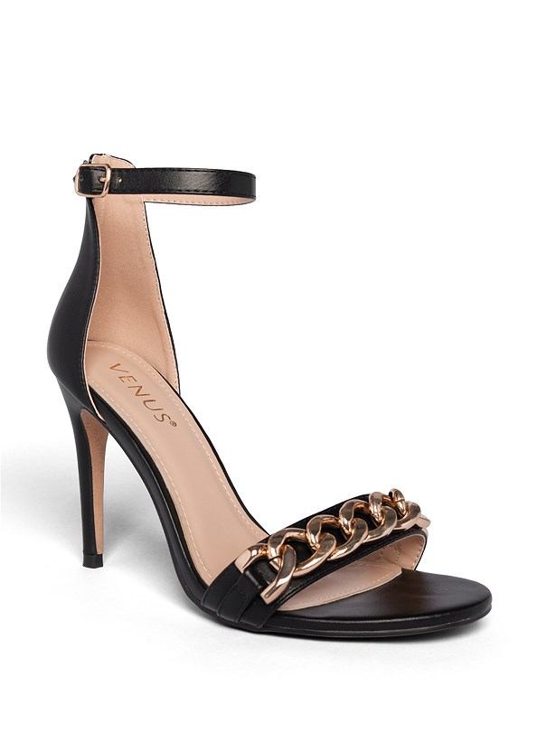Chain Detail Heels,Tassel Coat Dress