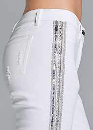 Alternate View Beaded Side Stripe Jeans