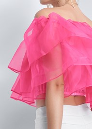 Alternate View Tiered Organza Top