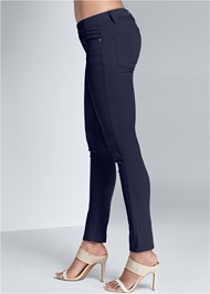 Waist down side view Mid Rise Color Skinny Jeans