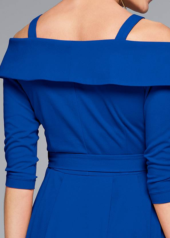 Alternate View Cold Shoulder Coat Dress