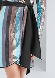 Alternate View Sequin Wrap Dress