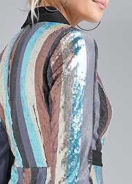 Alternate View Sequin Wrap Dress