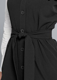 Alternate View Twofer Button Front Dress