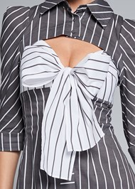 Alternate View Striped Cut Out Shirt Dress