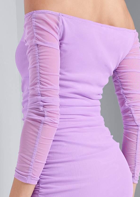 Alternate View Off The Shoulder Mesh Dress
