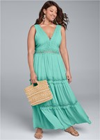 plus size tiered maxi dress