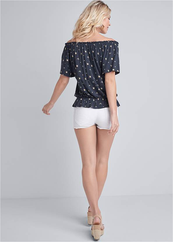 Back View Floral Top
