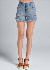 Full  view Ripped Jean Shorts