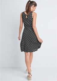 Back View Polka Dot Casual Dress