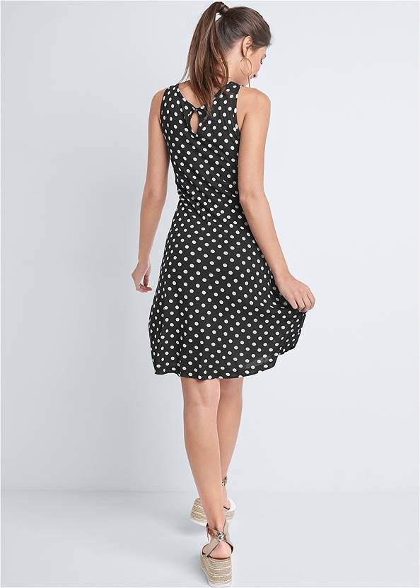 Back View Polka Dot Casual Dress