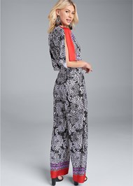 Back View Paisley Print Jumpsuit