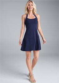 Front View Halter Neck Dress