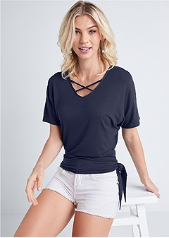 side knot casual top