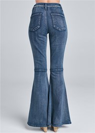 Waist down back view Flare Jeans