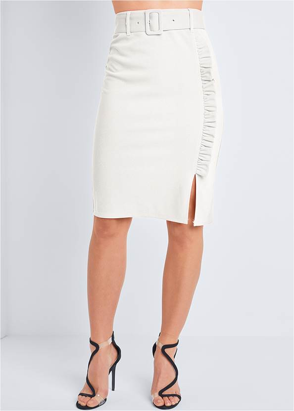 Alternate View Belted Pencil Skirt