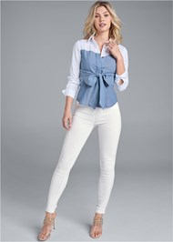 Full front view Twofer Blouse