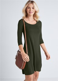 Cropped front view Casual Swing Dress